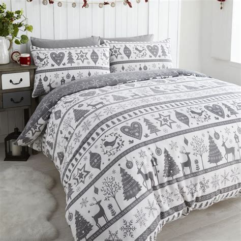 Snowflake Comforter by Snowflake Reindeer Duvet Quilt Cover