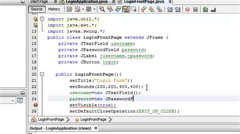 java swing program for login page simple java login form with ms access database tutorial 1