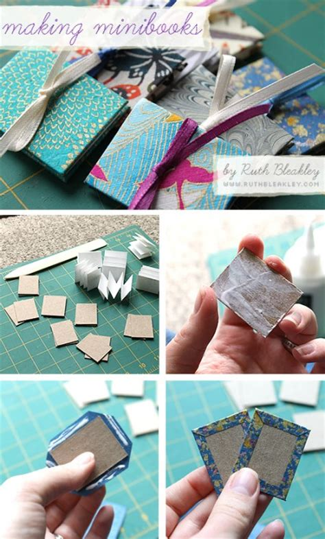 How To Make A Paper Mini Book - paper crafts for gifts mini book photo tutorial crafts