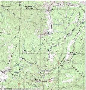 where is pecos on a map pecos wilderness area maplets