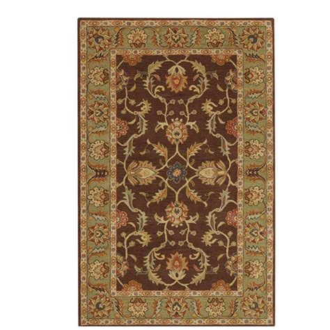 4 x 6 area rugs home decorators collection aristocrat brown 4 ft x 6 ft area rug 0167510820 the home depot