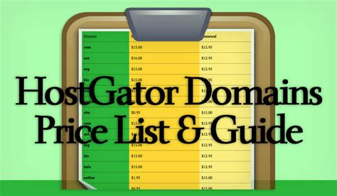 hostgator domain price list cost  domains coupon code