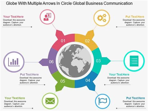 visual communication design ppt awesome business presentation showing globe with multiple