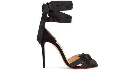 100 At The Net A Porter Sale by Lyst Christian Louboutin Christeriva 100 Bow Embellished