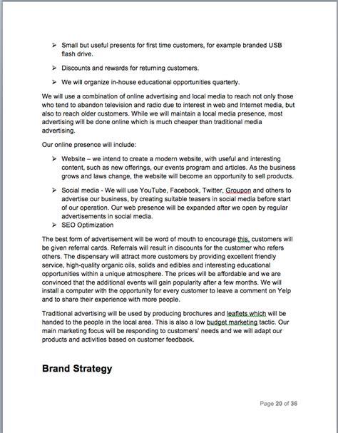 Medical Marijuana Dispensary Business Plan Sle Pages Black Box Business Plans Free Dispensary Business Plan Template