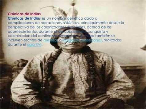 libro cronicas de indias presentaci 243 n cronica de indias