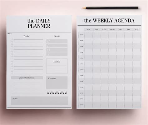 printable planner pages daily planner printables a5 images