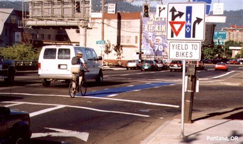 design guidelines portland evaluation of blue bike lanes portland or national