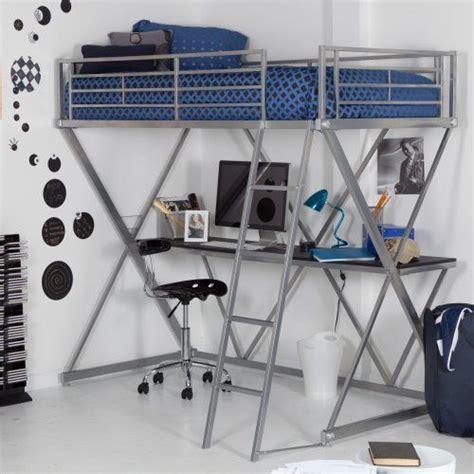 duro z bunk bed loft with desk silver
