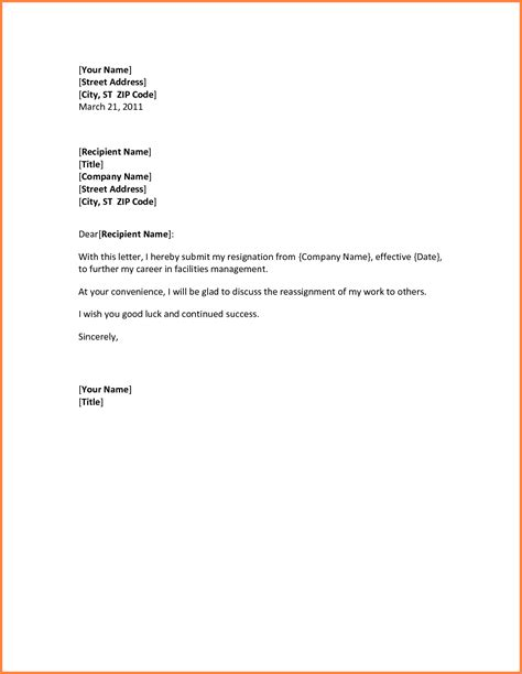 template for resignation letter sle 28 images template