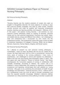 Personal Philosophy Essay by Personal Philosophy Of Nursing Essay