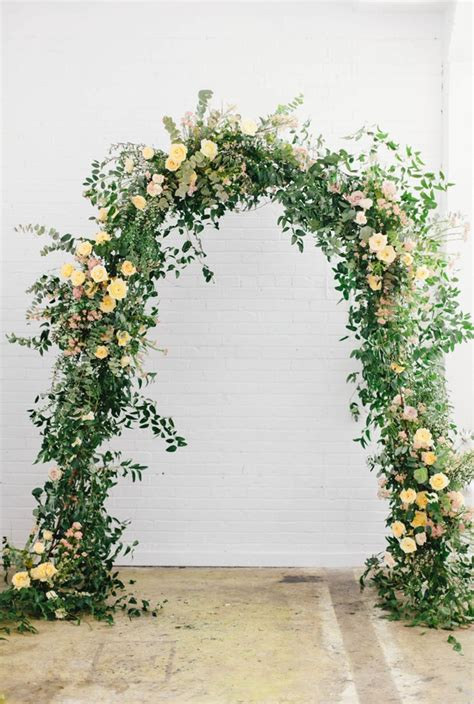 Wedding Arch With Flowers by Floral Arches Botanical Brouhaha