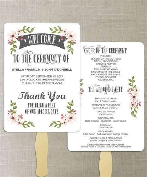 25  best ideas about Fan Wedding Programs on Pinterest