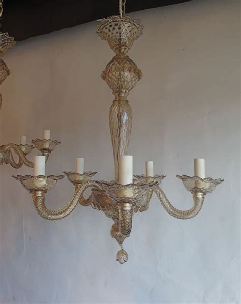 Antique Glass Chandeliers Pair Of Bronze Glass Murano Antique Chandeliers Norfolk Decorative Antiques