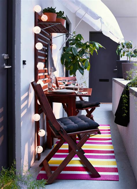 hanging balcony table ikea balcony chair and table design ideas for urban outdoors