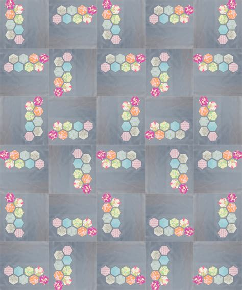 Hexagon Quilt Tutorial by Reannalily Designs Modern Hexagon Block Tutorial