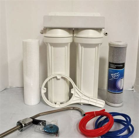 Water Filter System Sink by Sink Dual Water Filtration System Carbon Block And