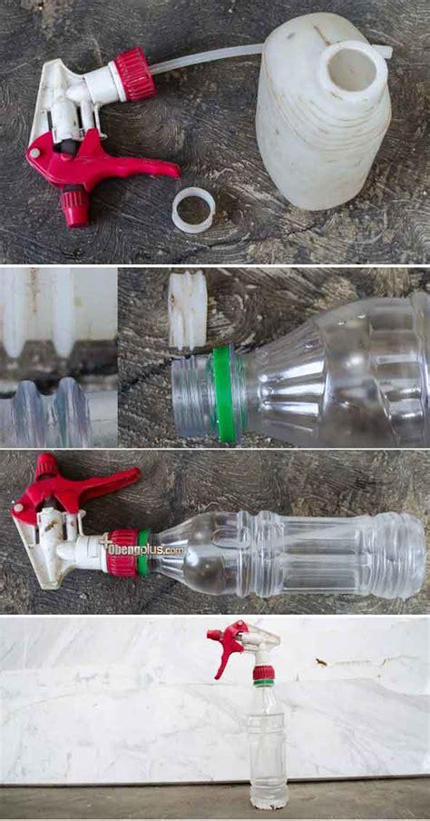Air Mini Bekas daur ulang botol plastik bekas sebagai pancuran air atau botol penganti semprotan tanaman