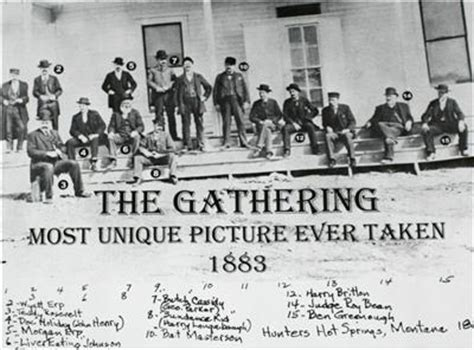 most unique picture ever taken most amazing photography old west 1883 gathering wyatt earp butch cassidy doc