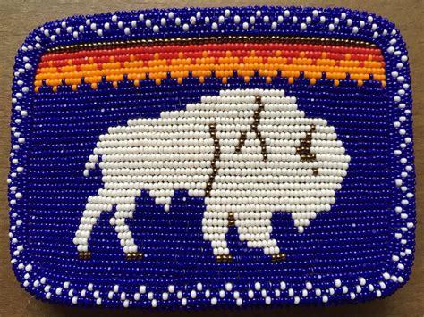 indian bead loom american indian beaded belt buckle buffalo