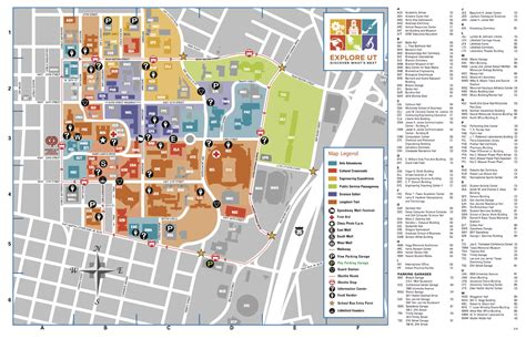 map of university of texas ut map my