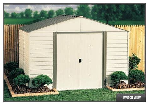 arrow sheds  vinyl milford storage shed kit vinyl