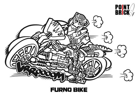 lego motorcycle coloring page disegni da colorare lego hero factory furno bike