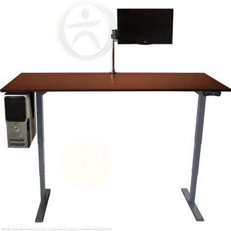 uplift height adjustable sit stand desk the human solution
