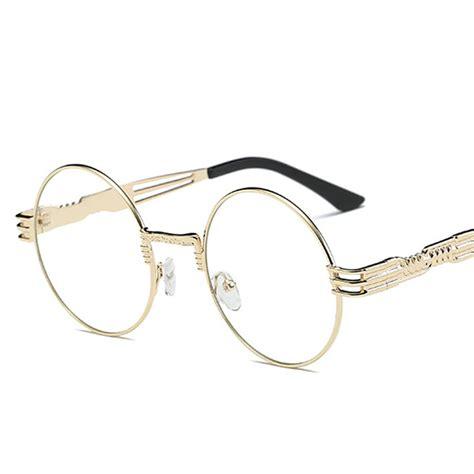 Mirror Metal Frame Sunglasses fashion silver gold metal frame mirror small
