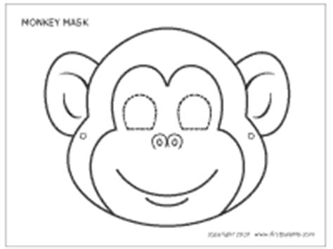 printable monkey mask template kids crafts fun craft ideas firstpalette com