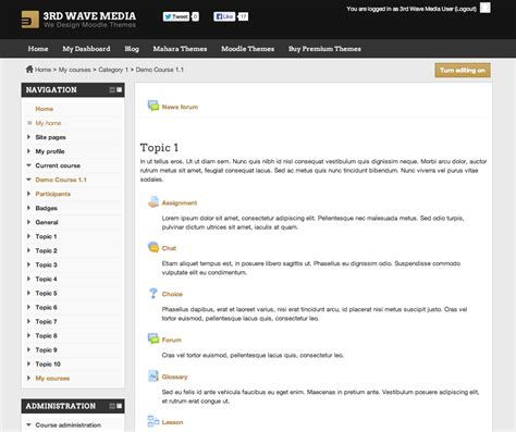 moodle theme editor how to set a different theme for a moodle course