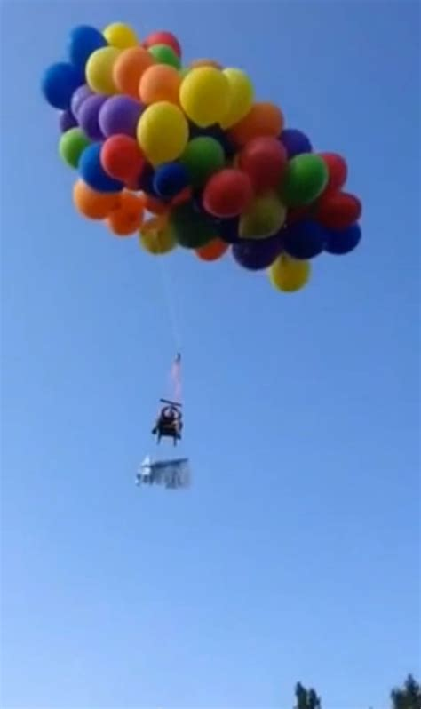 Lawn Chair Balloon by Says Balloon Powered Lawn Chair Ride Was