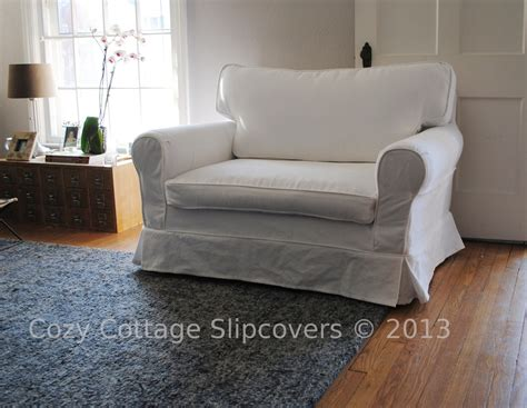 slipcover chair and a half cozy cottage slipcovers brushed canvas chair and a half