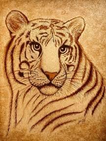 George Duvet Cover Royal Tiger Coffee Painting Painting By Georgeta Blanaru