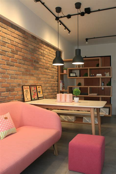 Home Living Room Ideas - 4 room bto living room pink is new eg apartment