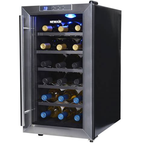 wine room cooler shop newair 18 bottle stainless steel wine chiller at lowes