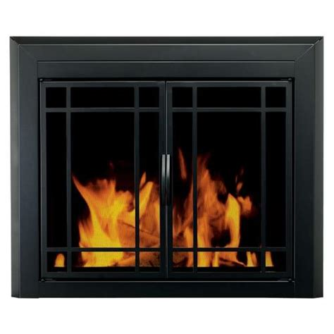 cabinet style glass fireplace door insert cabinet glass