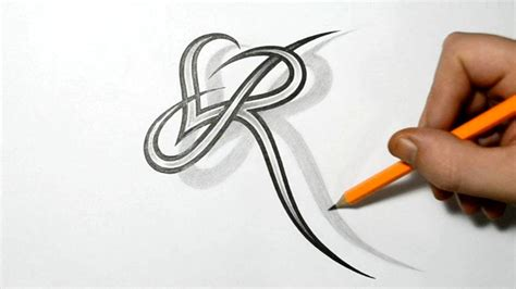 heart letter tattoo designs letter r and combined design ideas for
