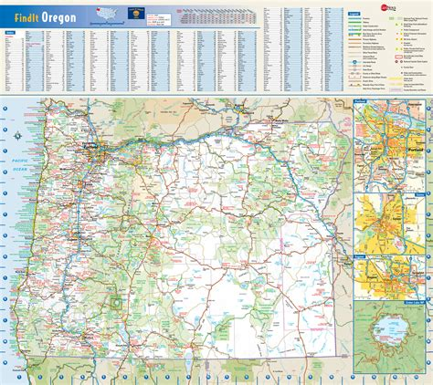 map of oregon state highways large roads and highways map of oregon state with national