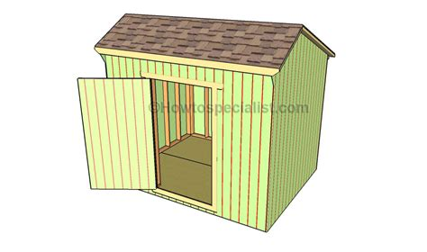 how to build a saltbox shed roof howtospecialist how to build step by step diy plans