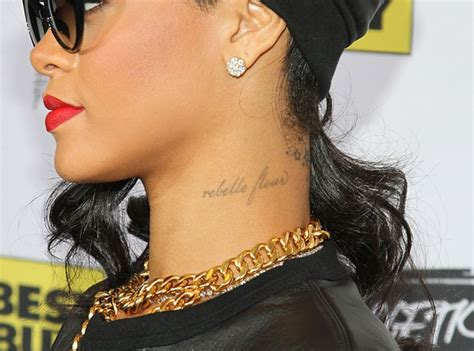 rihannas tattoos a guide to rihanna s tattoos 25 inkings and what they