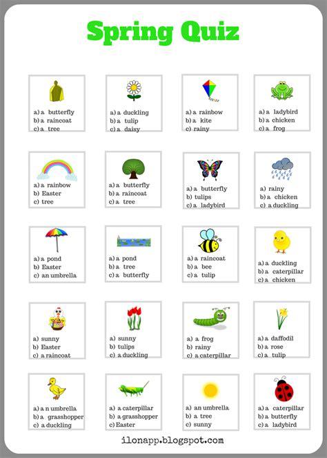 printable quiz about spring english freak blog o nauczaniu język 243 w obcych 5