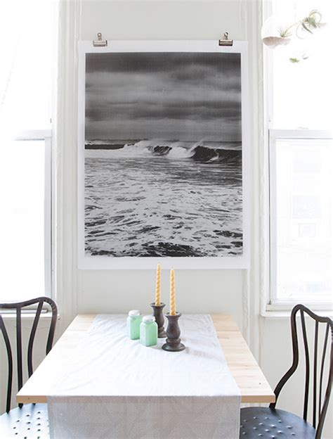 Hanging Prints Without Frames | 2 ways to hang large prints without a frame oh prints blog