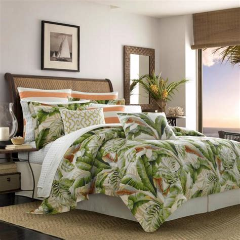 tommy bahama palmiers  piece green king duvet cover set