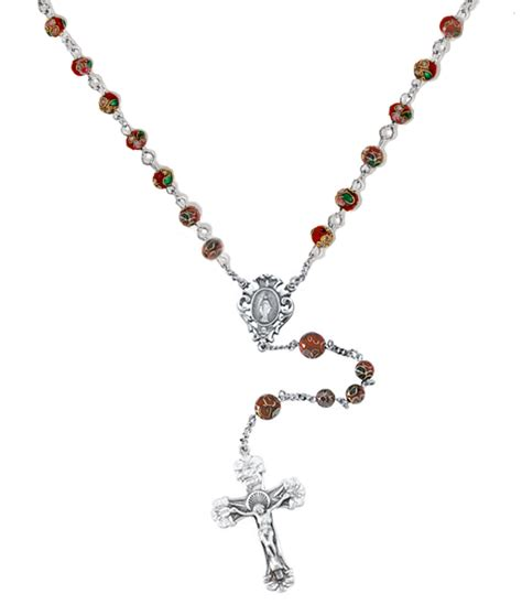 rosary bead necklace 14k yellow gold rosary necklace and 14k tri gold rosary