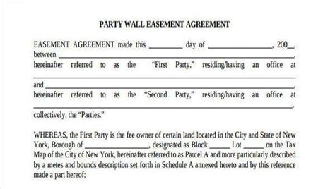 8 Party Wall Agreement Form Sles Free Sle Exle Format Download Wall Agreement Template Free