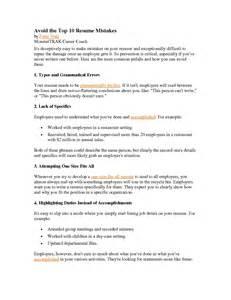 Top 10 Best Resume Formats Best Top 10 Resume Mistakes Resume Template Online