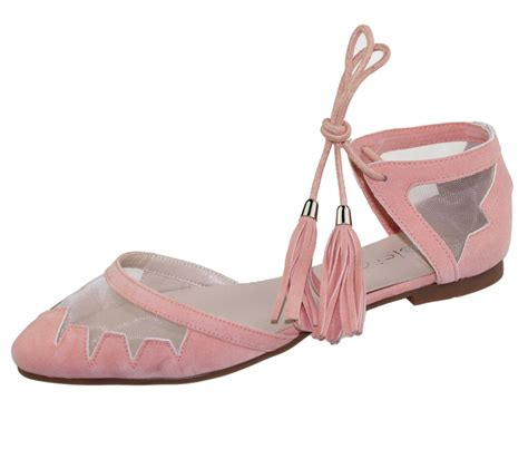 Wedges Fashion Ad Dv 54 1 womens flat ballerina dolly pumps ballet summer mesh tassel shoes sandals ebay