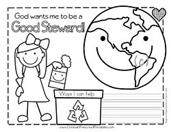 teaching to care about god s creation reflections activities and prayers for catechists and families books christian earth day coloring page