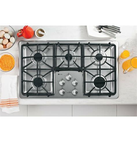 gas cooktop btu ge profile pgp966setss 36 quot gas cooktop w 5 sealed burners